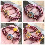 JoursNeige Natural Garnet Bracelet Hand Made 4mm Bead Chalcedony <b>Jewelry</b> <b>Accessories</b> Crystal Bracelets for Women Bracelet