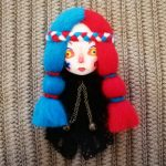 Brooch Clay Doll Face Pin Cute <b>Handmade</b> Needle Felted Brooches Hand Painted Dolls Brooch Unique Vintage Pins <b>Jewelry</b>