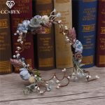 CC Tiaras And Crowns Hairbands Romantic Flower Forest Style Bridal Wedding Hair Accessories For Bride <b>Handmade</b> Rose <b>Jewelry</b> 2826