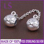 LS High Quality Real 925 Silver Dainty Bow Safety Chain Fit Original bracelete Charms Pulseira Encantos.100% Fine <b>Jewelry</b> <b>Making</b>