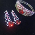 925 sterling <b>silver</b> with cubic zircon jewelry sets <b>earring</b> and bangle high quality fashion women jewelry free shipping