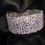 925 <b>sterling</b> <b>silver</b> with cubic zircon bangle wide wedding bracelet fashion women <b>jewelry</b> free shipping