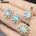 Natural Fire Opal Gem <b>Jewelry</b> Sets Genuine Stone Sets Solid 925 <b>Sterling</b> <b>Silver</b> Precious Stone Woman