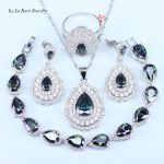 L&B 2017 New Style Rainbow Nice Cubic ZIrconia Jewelry Sets Women 925 Sterling <b>Silver</b> Jewelry Sets Fashion <b>Bracelets</b>