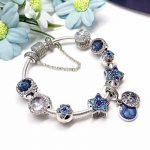 Good Quality Fashion Beautiful Gift <b>Silver</b> <b>Jewelry</b> Blue Star Series 925 <b>Sterling</b> <b>Silver</b> Charm Bracelet