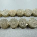 Gift idea Gray Titanium Druzy Stone Coin Beads Pendants Drusy Quartz Flat Round Beads <b>Jewelry</b> <b>Making</b> 2014 Women Necklace