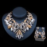 LAN PALACE fine <b>jewelry</b> african wedding beads nigerian <b>necklace</b> and earrings for party ensemble bijoux femme free shipping
