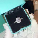 Brand Pure 925 Sterling Silver <b>Jewelry</b> For Women Square Cut Rings <b>Wedding</b> Crystal Sugar Rings <b>Wedding</b> Engagement Silver Ring 2CT