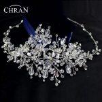 Chran New 100% <b>Handmade</b> Zircon Crystal Tiara Crown Bridal Wedding Party Headband Headpiece <b>Jewelry</b> Accessories HCJ434