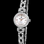 Royal Crown Jewelry Watch 6536S Italy brand Diamond Japan MIYOTA platinum <b>Silver</b> <b>bracelet</b> 19mm Claw set Soviet drill