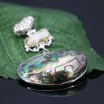 40*53mm Hot sale Natural abalone seashells sea shell pendant Material stripe freshwater pearl crafts <b>jewelry</b> <b>making</b> design gifts