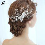 Silver Bridal Headpiece Pearl Tiara Hair Clip Wedding Hair Accessories Hair Vine <b>Handmade</b> Hair <b>Jewelry</b> Bride