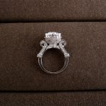 Hot sale Fashion Luxury <b>handmade</b> 4ct imported created zirconia imported big stone queen wedding ring,J0994C