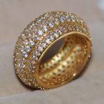 Size 5-11 <b>Handmade</b> chongcong Luxury <b>Jewelry</b> 10KT Yellow Gold Filled Pave 5A CZ Zirconia Women Engagement Band Finger Ring Gift