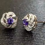 natural sapphire stone stud <b>earrings</b> 925 <b>silver</b> Natural gemstone <b>earring</b> women elegant generous stud <b>earrings</b> jewelry for party