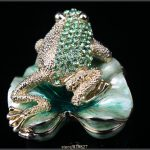 <b>Handmade</b> Frog Wedding Gift Frog Ring Box Crystal Rhinestone Frog Pill Box <b>Jewelry</b> Box Collectible Gift Trinket <b>Jewelry</b> Box