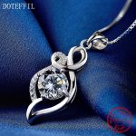 925 <b>Silver</b> Charm Necklace AAAA Zircon Woman Classic Pendant Necklace 100% Sterling <b>Silver</b> Fashion <b>Jewelry</b>