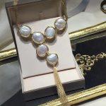 ANI 14K Roll Yellow Gold Pearl Necklace Natural Baroque Shape Freshwater Pearl Fine <b>Jewelry</b> <b>Handmade</b> Hyperbole Women Necklace