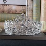 CC Big Tiaras And Crowns Hairbands Shine CZ Baroque Engagement <b>Wedding</b> Hair Accessories For Bride Fine <b>Jewelry</b> Water Drop HG850