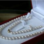 Prett Lovely Women's Wedding shipping>> 6-7MM White Akoya Cultured Pearl Necklace 18″ + Earring Set silver-<b>jewelry</b>