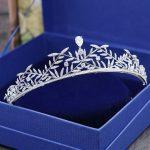Gorgeous Vintage Silver Clear Cubic Zircon <b>Wedding</b> Tiara CZ Bridal Queen Princess Pageant Royal Party Crown Women Hair <b>Jewelry</b>