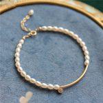 Customize Natural Freshwater Pearls Bracelet <b>Handmade</b> Personalized Gold Wrap Fillde Bangles Vintage <b>Jewelry</b> Bracelet for Women