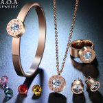 Hot Sale Stainless Steel Famous Brand <b>Jewelry</b> Set Interchangeable CZ Stone <b>Jewelry</b> Set For Wedding