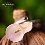 GLSEEVO Real 925 Sterling Silver Adjustable Ring For Women Natural Crystal Flower Calla Open Ring <b>Handmade</b> <b>Jewelry</b> Anel GR0005
