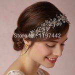 Silver plated tiara luxury bridal headband <b>handmade</b> headdress wholesale pearl <b>jewelry</b> wedding crowns hair accessories