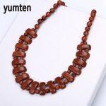 Yumten Goldstone Bohemian Necklace Natural Stone Crystal Women Beads Exquisite <b>Handmade</b> <b>Jewelry</b> Holiday Gifts Bisuteria Mujer