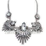 New Retro Exaggerated Ethnic Big Fashion <b>Jewelry</b> Wholesale <b>Antique</b> Silver & Bronze Vintage Statement Necklace For Women DL909644