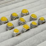 Fashion <b>jewelry</b> Women Ambers Rings Real tibet Beeswax Sterling Silver Rings <b>Handmade</b> Rings shipping free