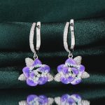 RainMarch Flower Enamel Silver <b>Wedding</b> Earrings For Women 925 Sterling Silver Earring Bohemian Handmade enamel <b>Jewelry</b>