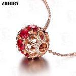 ZHHIRY Women Genuine Natural Mozambique Garnet Gemstone Solid 925 <b>Sterling</b> <b>Silver</b> Necklace Pendant For Girls Fine <b>Jewelry</b>