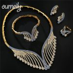 OUMEILY African Dubai Wedding <b>Jewelry</b> Sets for Women Brides Turkish Blue Purple Imitation Crystal Gold Color Round <b>Jewelry</b> Set