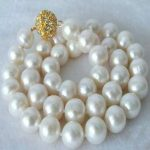 Free shipping new fashion 14mm white shell simulated-pearl necklace round beads high grade <b>jewelry</b> <b>making</b> 18inch BV379