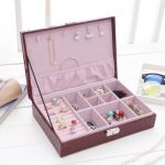 1 Pc New <b>Fashion</b> Patent Leather <b>Jewelry</b> Box Ring Necklace Errings Jewellery Organizer Women Gift <b>Jewelry</b> Container Case
