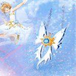 Angel Wing <b>Necklace</b> Cardcaptor Sakura: Clear Card-hen Flight Fly <b>Necklace</b> Pendant Anime 925 Sterling <b>Silver</b> Cosplay Gift Girl