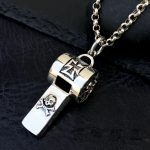 Solid <b>Silver</b> 925 Iron Cross & Skull Whistle Charm Pendant For <b>Necklace</b> Men Women Gothic Punk Style Real Sterling <b>Silver</b> Jewelry