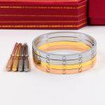 2018 new Brand stainless steel <b>jewelry</b> carter love bracelet for women 4mm narrow cuff bangle with screwdriver Pulseiras Feminina