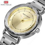 MINI FOCUS brand womens wristwatches stainless steel gold <b>silver</b> rose luxury diamond woman watches waterproof fashion clocks