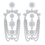 GODK New Elegant Fireworks Geometric Design Full Mirco Cubic Zirconia Bridal <b>Wedding</b> Women Tassel Earring Fashion <b>Jewelry</b>