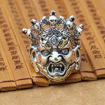 NEW <b>Handmade</b> 925 Silver Mahagala Ring Male Ring Vintage Thailand Silver Kinggong Man Ring Pure Silver Male Ring <b>Jewelry</b> Gift