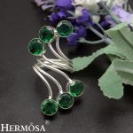 Unique Christmas Gift GreenTopaz 925 Sterling Silver Open Ring Resizable Ring Size 7-9# <b>Handmade</b> <b>Jewelry</b> NY685