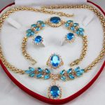 Women's Wedding shipping set 0035 zircon necklace, earing, bracelet , ring set real silver mujer fine quality