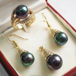Women's Wedding noble new <b>jewelry</b> purple + 12mm shell pearl pendant, earring, , ring set silver mujer moda