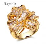 Luxury ring for evening dress women's designer unique <b>jewelry</b> gold color cubic zirconia my aliexpress index big finger rings