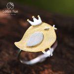 Lotus Fun Real 925 Sterling <b>Silver</b> Natural Creative Handmade Designer Fine <b>Jewelry</b> Lovely Princess Bird Rings for Women Bijoux