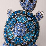 Shaky turtle tortoise stretch ring for women summer fashion <b>jewelry</b> W crystal <b>antique</b> gold & silver color wholesale dropship