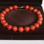 AAA 19mm natural round red sponge coral necklace 18inch <b>earring</b>